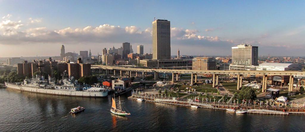 Buffalo NY Aerial City Landscape